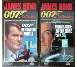 007 collection: Bersaglio Mobile; Moonraker: operazione spazio - J. Bond - VHS-A