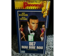 007 mai dire mai - vhs -1995 - panorama -F