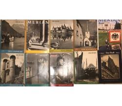 10 riviste in lingua tedesca (9 Merian+1 Das Elsass) di Aa.vv., Ee.vv.