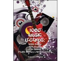 1000 music legends: 100th Sinatra. 80th Presley. 75th Lennon. Freddie Mercury e