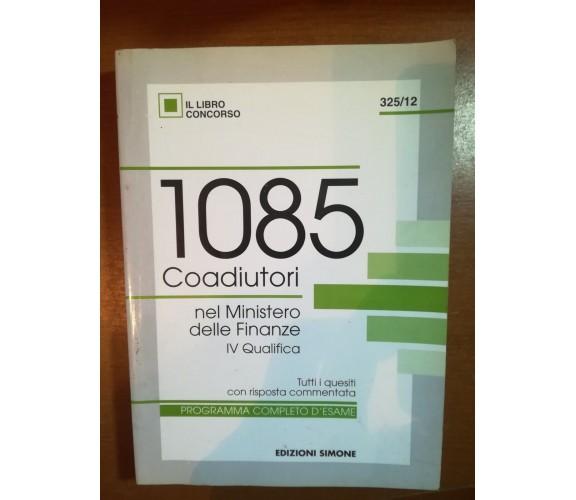 1085 Coadiutiori - AA.VV. - Simone - 1996   - M