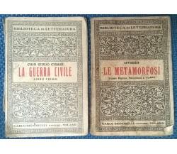 2 Voll. La guerra civile Libro I, Le metamorfosi Libro 1, 2 e 3 - Signorelli - L