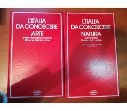 2 volumi L'italia da conoscere - AA.VV.- Mondadori - 1972 - M