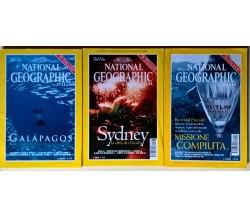 3 voll. National Geographic Italia - Edizioni La Repubblica 1999/2000 - L