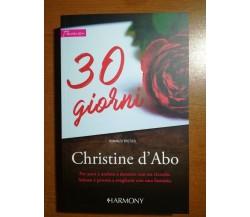 30 Giorni - Christine d'Abo - Harmony - 2017 - M