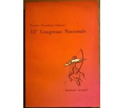 32° Congresso nazionale partito socialista italiano - Edizioni Avanti!, 1957 - L