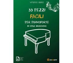 33 pezzi facili per pianoforte in stile moderno di Virginio Aiello,  2021,  Youc