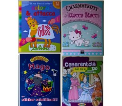 4 vol Assortiti adesivi attacca stacca Charmmy kitty/Cenerentola/Divento mago -L