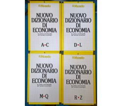 4 voll. Il Mondo - Nuovo dizionario di economia - RCS Rizzoli, 1989 -Completa -L