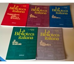 5 Voll. La Biblioteca italiana - Peruzzi, Manazza, Naja - Bompiani, 1996 - L