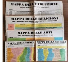 5 mappe panorama (Scienza-Storia-Arti-Religioni-Dell'Evoluzione) -1971 - AR