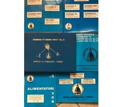 6 Volumi schemario radio-telefonia-rtx di Aa.vv., Editrice Antonelliana Torin