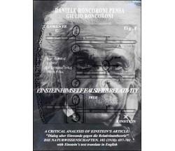 A Critical analysis of Einsteins article di Daniele Roncoroni Pensa,  2015