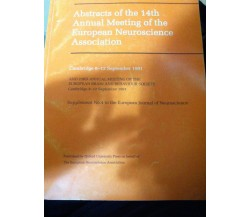 Abstract of the 14th annual meeting of the European neuroscience association-lo