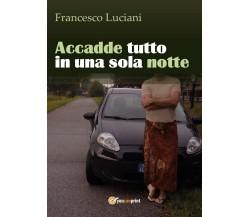 Accadde tutto in una sola notte di Francesco Luciani,  2016,  Youcanprint