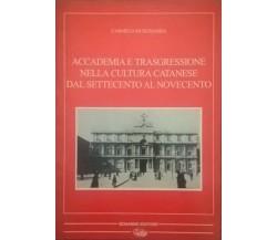 Accademia E Trasgressione Nella Cultura Catanese Dal Settecento Al Novecento. Ca