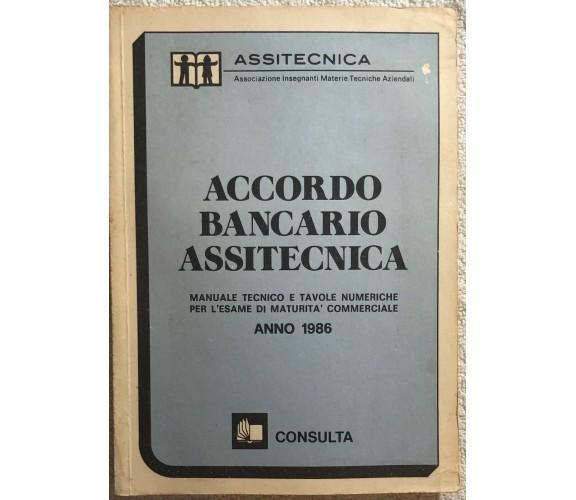 Accordo bancario assitecnica 1986 di Assitecnica,  1986,  Consulta