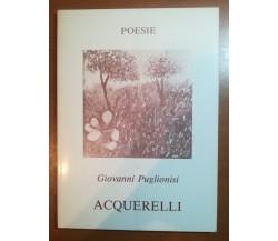 Acquerelli - Giovanni Puglionisi - La Rocca - 1983 - M