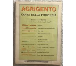 Agrigento carta della provincia di Aa.vv.,  1987,  Litografia Artistica Cartogra