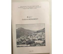 Alì, guida ai monumenti di Aa.vv., 1993, Soc. Coop. Quadrifoglio Roccalumera