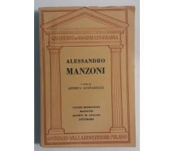 Alessandro Manzoni - Andrea Gustarelli - A. Vallardi - 1955 - G