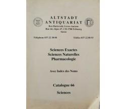 Altstadt Antiquariat Catalogue 66 (Sciences) - ER
