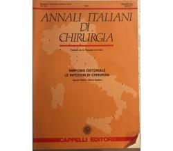 Annali italiani di chirurgia n.0 di G. Pascale,  1988,  Cappelli Editore