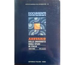 Annuario delle Università degli studi in Italia 1997/1998 VII Edizione Ca