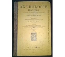 Anthologie française - Prof. J. P. Malan, S. Serafini - Lapi, 1902 - L