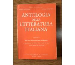 Antologia della letteratura italiana - Balestreri -G. D'Anna - 1983 - AR