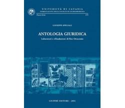 Antologia giuridica laboratori e rifondazioni di fine Ottocento - G. Speciale