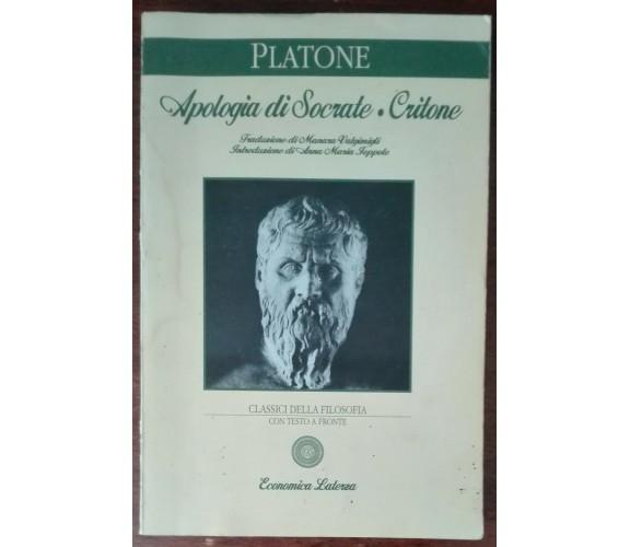 Apologia di Socrate Critone - Platone - Laterza, 2008 - A