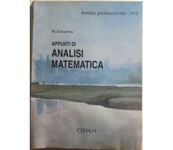 Appunti di analisi matematicadi M.scovenna, 2003, Cedam