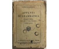 Appunti di grammatica di Giulia Baldasseroni,  1925,  R. Bemporad & Figlio Edito