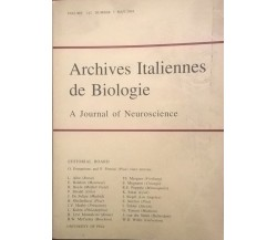 Archives Italiennes de Biologie - A journal of Neuroscience (Pisa 2004) Ca