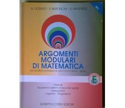Argomenti modulari di matematica E - Ist. Prof. e del comm. - Ghisetti, 2000 - L