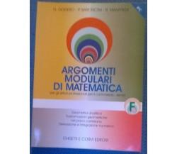 Argomenti modulari di matematica F - Ist. Prof. e del comm. - Ghisetti, 2000 - L