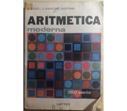 Aritmetica moderna di Bovio-manzone Bertone,  1984,  Lattes