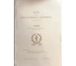 Atti della accademia Gioenia 1982 di Cataniadi Aa.vv., 1982, Accademia Gioenia