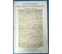 Autographes Documents Historiques. Calogue Hiver 1999 - 2000 - J.-E. Raux - L