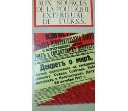 Aux sources de la politique extrerieure de l'URSS - Trouch - 1970 - lo