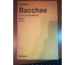 Bacchae - Euripidis - Sansoni - 1986  - M