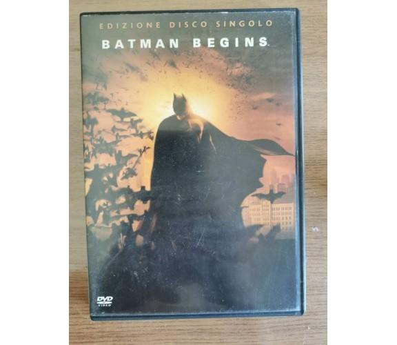 Batman begins DVD - C. Nolan - Warner Bros - 2005 - AR