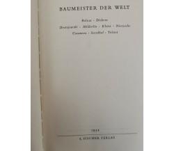Baumeister der Welt von Stefan Zweig,  1952,  Fischer - ER
