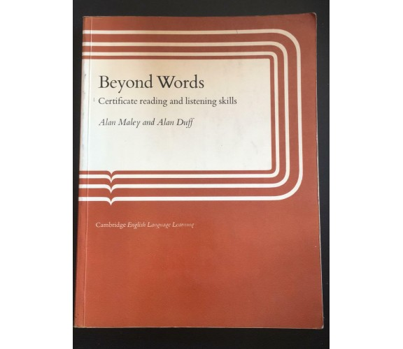 Beyond Words - Maley - Duff,  Cambridge - P