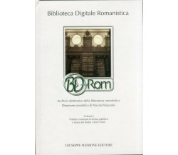 Biblioteca Digitale Romanistica BD-Rom (volume   CD-ROM)
