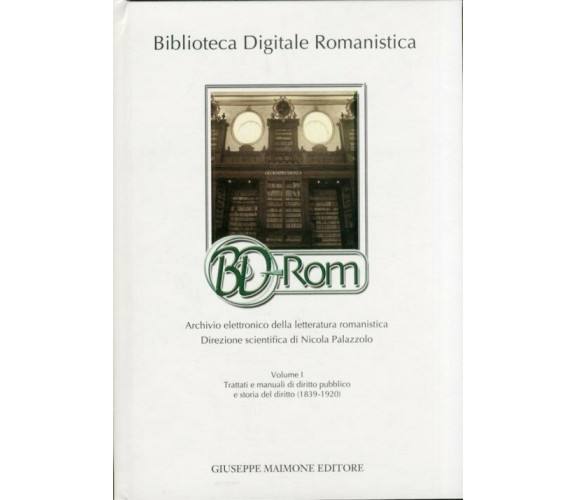 Biblioteca Digitale Romanistica BD-Rom (volume   CD-ROM)