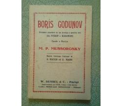 Boris Godunov - Dramma popolare in un prologo e quattro atti (Da Puskin...) 1908