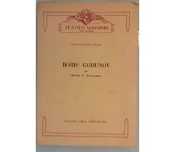 Boris Godunov, Stagione Lirica Ufficiale 1964 - Teatro Massimo - 1963 - G