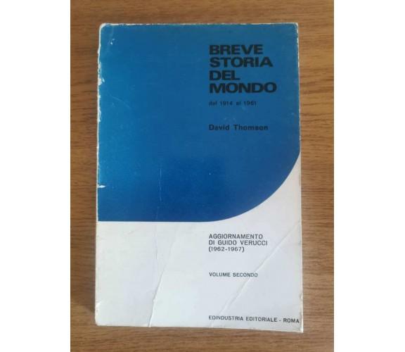 Breve storia del mondo - D. Thomson - Edindustria - 1968 - AR